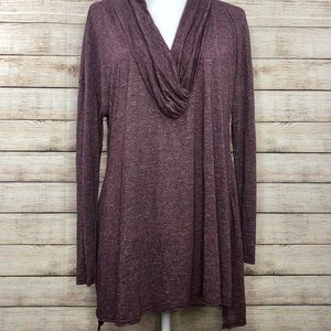 Michael Stars Wine Brooklyn Cowl Neck Tunic Top